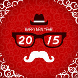 New year hipster greeting card.Vector illustration Royalty Free Stock Photo