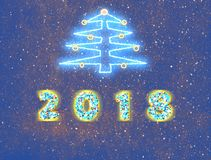 New 2018 year - holiday background Stock Photos