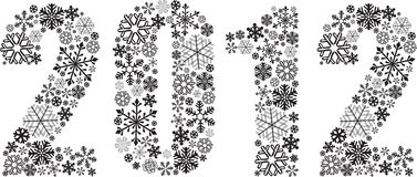 New Year holiday background 2012. New Year holiday background with the numbers 2012 royalty free illustration