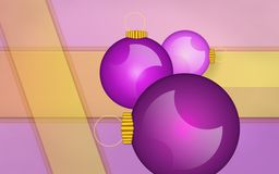 New year holiday background. With purple spheres Stock Photos
