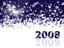 New Year holiday background. 2008 in front Stock Photography