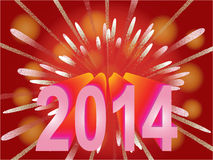 New Year 2014 holiday background Stock Photos