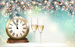 New Year Holiday background with a gift boxes royalty free illustration