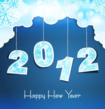 New Year holiday background with the numbers 2012. On the blue sky royalty free illustration