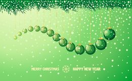 New Year holiday background with snake Royalty Free Stock Image