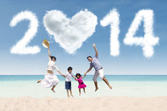 New year holiday at beach Stock Image