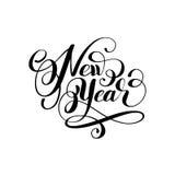 New year holiday calligraphy handwritten inscription. Hand lettering vector illustration stock illustration