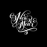 New year holiday calligraphy handwritten inscription. Hand lettering vector illustration vector illustration