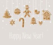 New Year holiday card Stock Photo