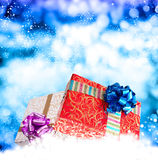 New Year Holiday.Christmas.Gift Boxes Stock Photography
