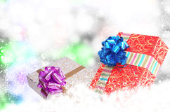 New Year Holiday.Christmas.Gift Boxes Royalty Free Stock Images