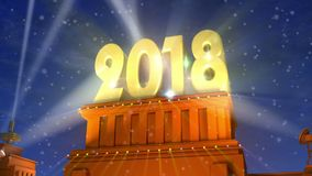 New Year 2018 holiday concept stock video footage