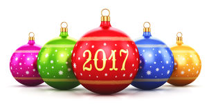 New Year 2017 holiday concept Stock Photos