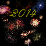2014 New Year holiday fireworks Stock Photo