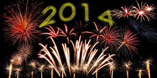 New Year holiday fireworks Royalty Free Stock Images