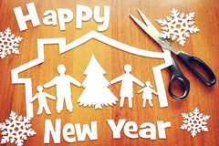 New Year holiday and happy family Royalty Free Stock Photography
