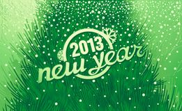 New Year holiday inscription in retro style Royalty Free Stock Photography