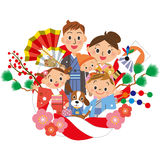 New Year holidays decoration and family Stock Photography