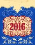 2016 New Year holidays design Stock Photos
