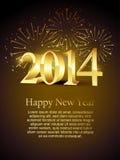 New year holidays. Vector happy new year holiday celebration Royalty Free Stock Photos
