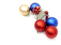 New year home. And christmass ball isolated on white Royalty Free Stock Images