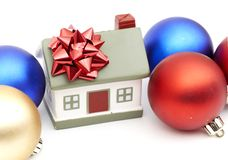 New year home and christmass ball. Isolated on white Stock Image