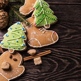 New year homemade gingerbread Stock Images