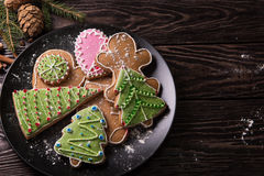 New year homemade gingerbread Stock Photography