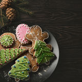 New year homemade gingerbread Royalty Free Stock Images