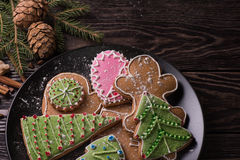 New year homemade gingerbread Royalty Free Stock Image
