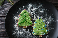 New year homemade gingerbread Royalty Free Stock Photo