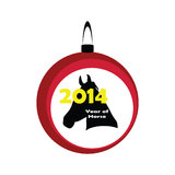 New year of horse 2014. New year of the horse 2014 Royalty Free Stock Image