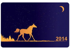 New Year 2014  horse. New Year 2014  background with horse Royalty Free Stock Images