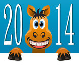 vector new year  horse Royalty Free Stock Photography