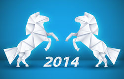New year Horse background concept. vector. Illustration tamplate for your design Stock Photo