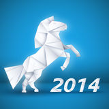New year Horse background concept. vector. Illustrations Royalty Free Stock Photos