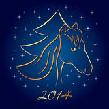 New Year Horse Background. New Year vector background. Horse. Symbol of 2014 Stock Image