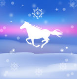 The New Year Horse. Calendar 2014 stock illustration