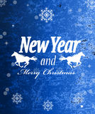 The New Year Horse. Calendar 2014 royalty free illustration