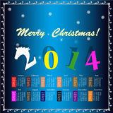 The New Year Horse. Calendar 2014 Royalty Free Stock Images