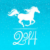 New year horse. New year card with a symbol of the coming year - the horse royalty free illustration
