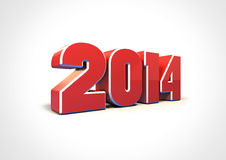 New Year 2014. Year of the Horse. 3d illustration Royalty Free Stock Images
