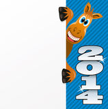 Vector New year horse. Vector New year greeting background of a horse Royalty Free Stock Image