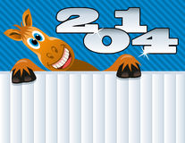 Vector New year horse. Vector New year greeting background of a horse Royalty Free Illustration