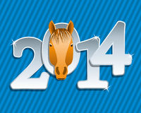 Vector New year  horse. Vector New year greeting background of a horse Royalty Free Stock Images