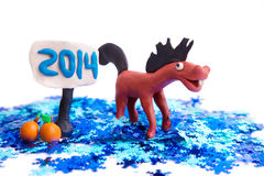 New Year Horse Royalty Free Stock Photography