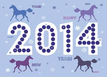 New year horse 2014 Royalty Free Stock Photo