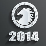 New year horse vector. New year 2014 horse. This is file of EPS10 format Stock Photos