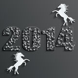 New year horse vector Royalty Free Stock Photo