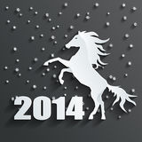 New year horse vector. New year 2014 horse. This is file of EPS10 format Royalty Free Stock Photo